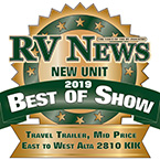 2019 RV News Best of Show Travel Trailer Mid Price: East to West Alta 2810KIK