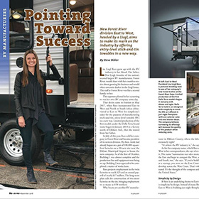 Pointing Toward Success 1 of 4 - RV Pro November 2018