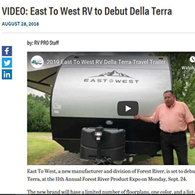 East To West Rolls Out the Della Terra - Trailer Life